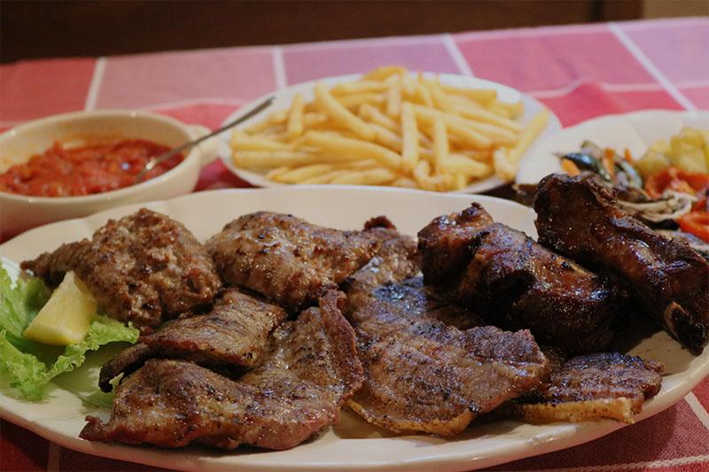 grigliata mista di maiale